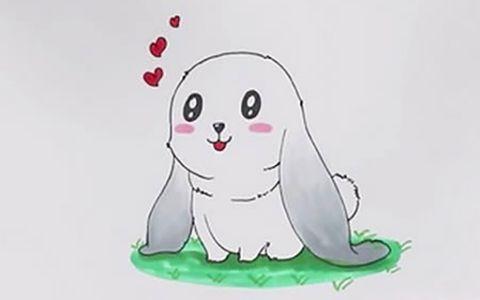 垂耳兔简笔画图片 兔子如何画