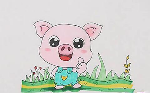 Q版小猪简笔画图片 Q版小猪是怎么画的