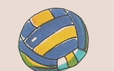 排球简笔画图片 排球是怎么画的
