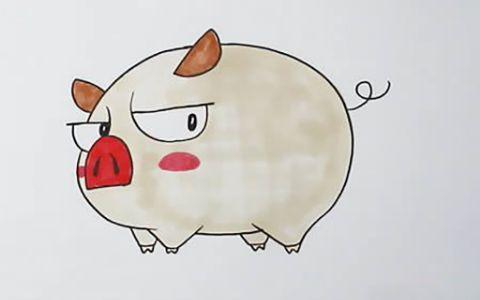 可爱的小猪儿童简笔画图片 小猪是怎么画的