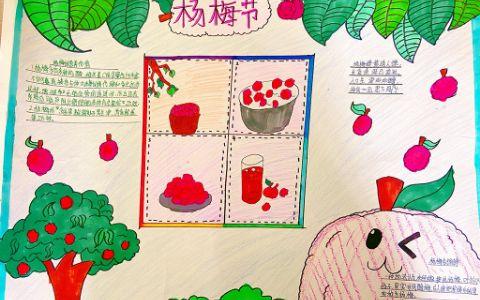关于杨梅节漂亮手抄报 杨梅的营养价值