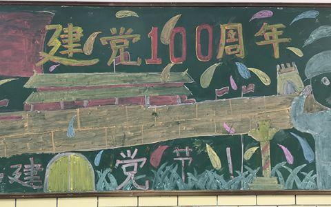 庆祝中国共产党建党100周年纪念日黑板