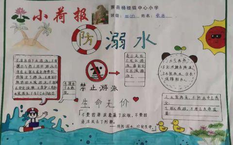 防溺水禁止游泳手抄报图片