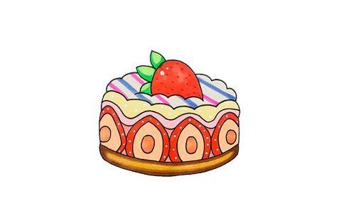 儿童简笔画蛋糕是怎么画的