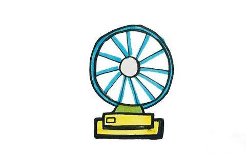 电风扇简笔画图片 电风扇是怎么画的