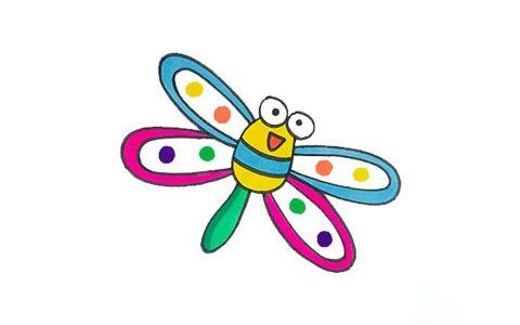 简单的蜻蜓简笔画图片 蜻蜓是怎么画的