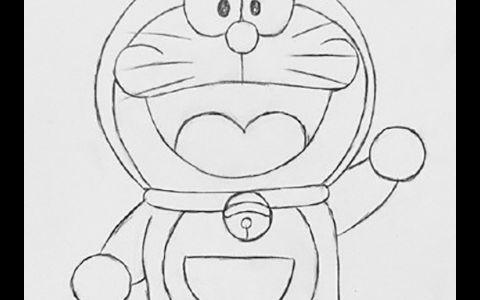 哆啦A梦简笔画图片 哆啦A梦是怎么画的