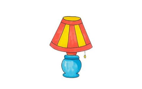 家用台灯简笔画图片 台灯是怎么画的