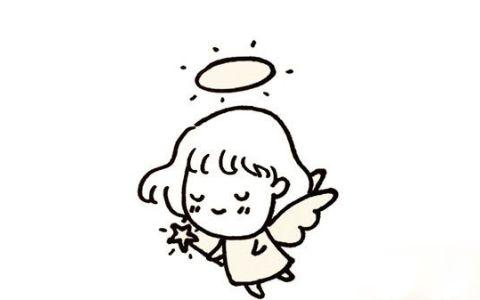 天使人物简笔画图片 天使是怎么画的