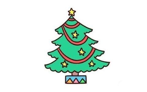圣诞树简笔画图片 简单的圣诞树是怎么画的