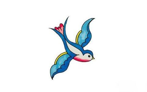 简单的小燕子简笔画图片 小燕子如何画的