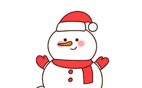雪人简笔画图片 简单的雪人是怎么画的