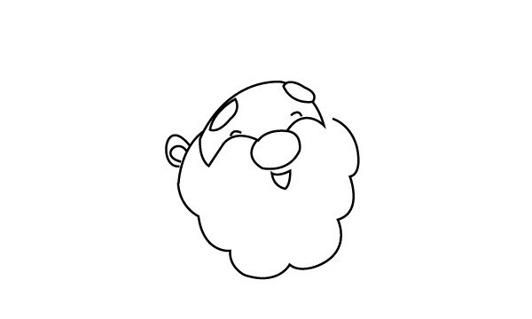圣诞老人简笔画图片 圣诞老人是怎么画的