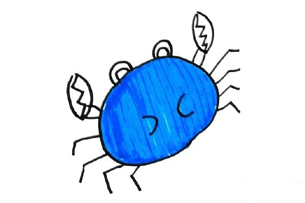 螃蟹简笔画图片大全