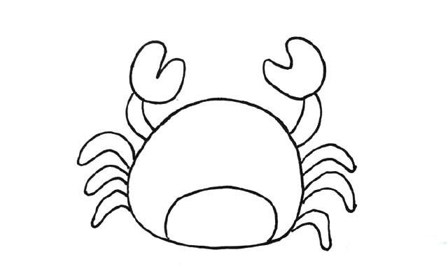 螃蟹简笔画图片 螃蟹是怎么画的