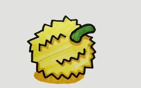 榴莲简笔画图片 榴莲是怎么画的