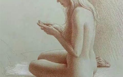 唯美人体素描作品