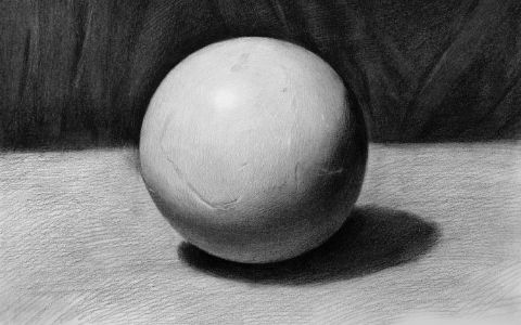 几何体素描怎么画圆
