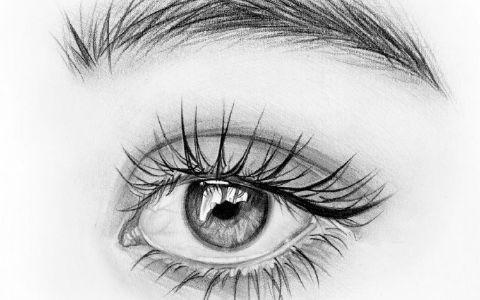画眼睛素描详细教程图片