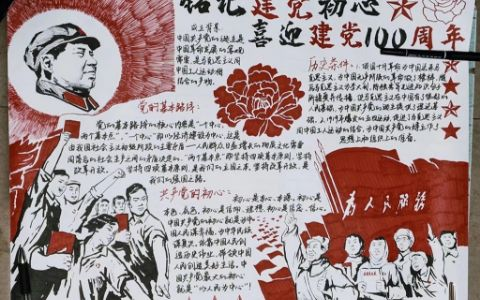 铭记初心喜迎建党100周年手抄报