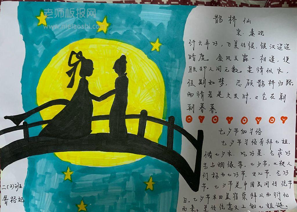 传统七夕节手抄报图片