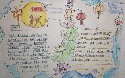 2021年中秋节小学生手抄报图片