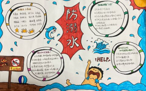 中小学生防溺水手抄报图片