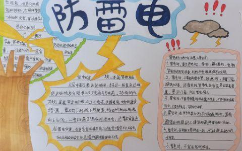 中小学生防雷电安全手抄报图片