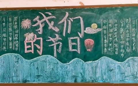 中秋节我们的节日黑板报图片