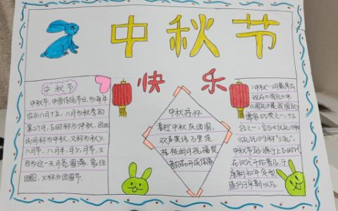 传统中秋节快乐手抄报图片