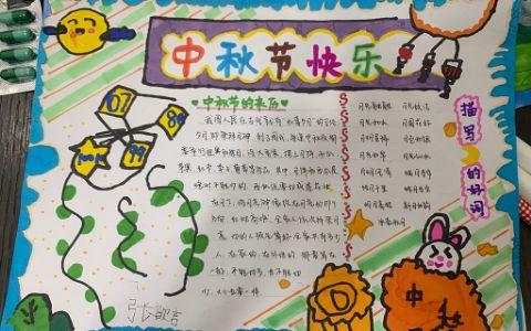 2021中秋节快乐手抄报图片
