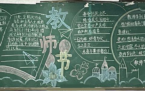 关于教师节主题黑板报图片