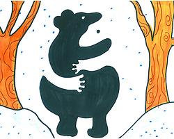 熊的简笔画画法填色画图片