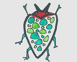 儿童简笔画图片彩色瓢虫怎么画 可爱小瓢虫画法