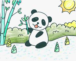 幼年大熊猫简笔画画法图片步骤