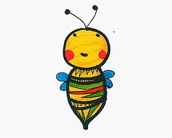 彩色卡通蜜蜂怎么画简笔画简单又漂亮