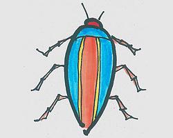 简笔画图片 可爱甲虫的画法