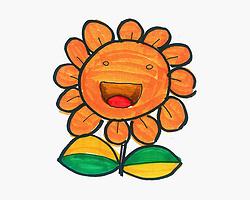 趣味简笔画向日葵怎么画图解 3-6岁美术