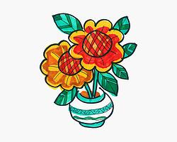 可爱简笔画向日葵的画法详细过程 少儿8一12岁涂鸦