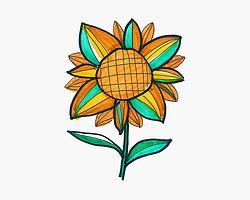 实用简笔画向日葵怎么画 幼儿4~6岁美术大全