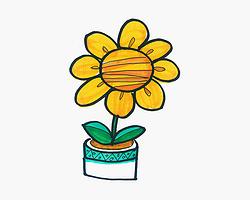 可爱简笔画向日葵怎么画详细过程 幼儿8一12岁涂鸦
