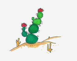 简单儿童简笔画教程 卡通仙人球怎么画简单又好看