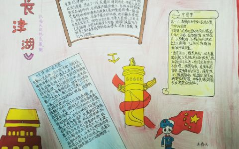 长津湖主题手抄报图片