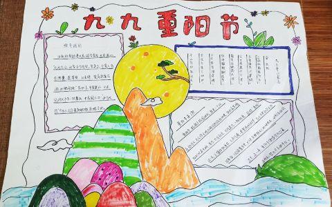 中国传统九九重阳节手抄报图片