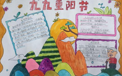 关于九九重阳节主题手抄报图片